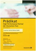 2006 02 Zertifikat High Performance Partner